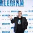 """Luc Besson à la première de """"Valérian et la Cité des milles planètes"""" à Berlin, le 19 juillet 2017."""