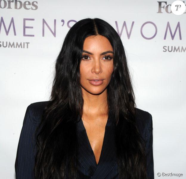 Kim Kardashian lors du sommet féminin Forbes 2017 aux Spring Studios à New York City, New York, Etats-Unis, le 13 juin 2017