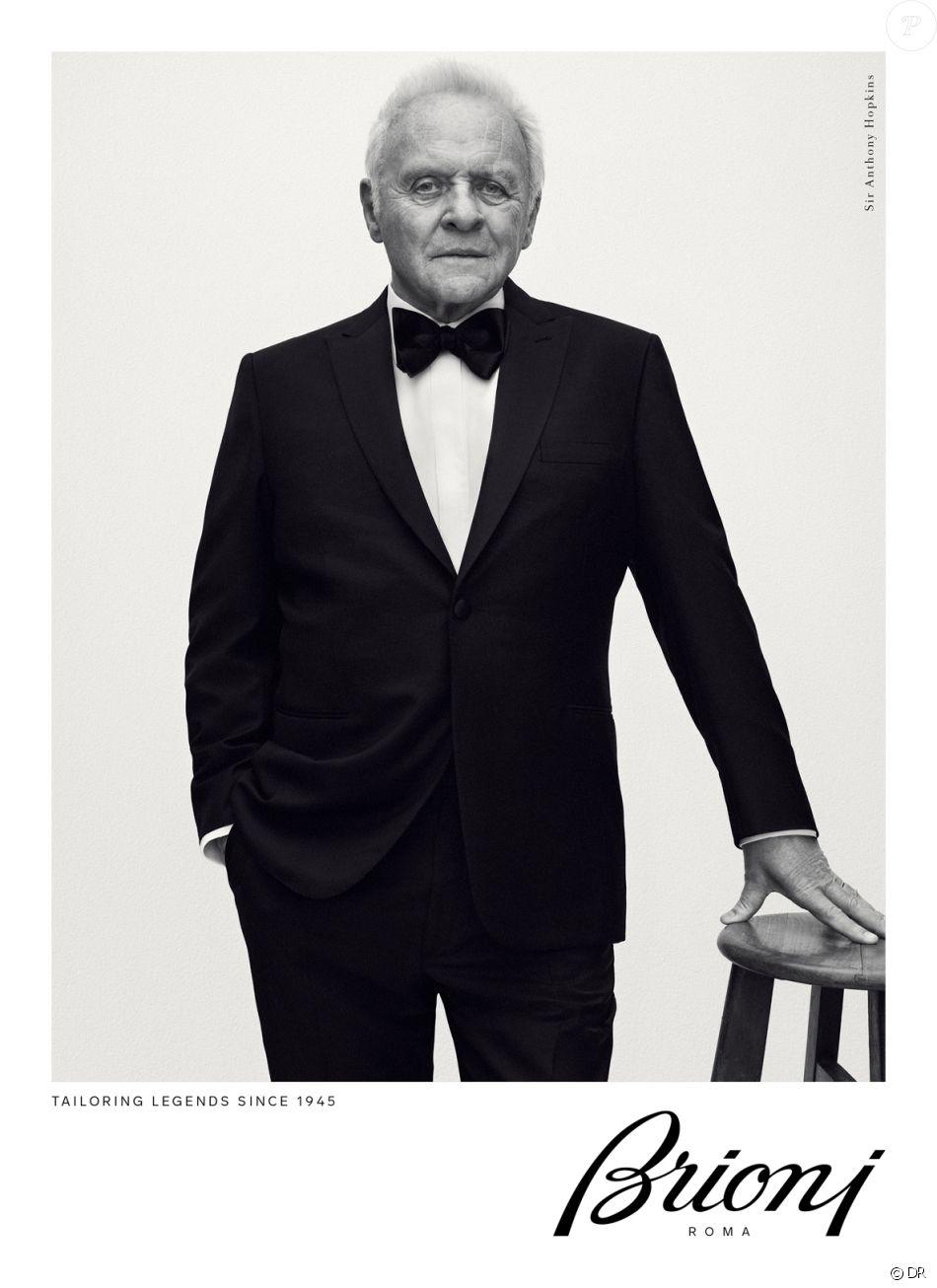Anthony Hopkins figure sur la nouvelle campagne publicitaire de Brioni (saison automne-hiver 2017). Photo par Gregory Harris.