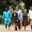 Kris Jenner est allée faire du shopping chez Hermès avec son compagnon Corey Gamble à Monaco lors de leurs vacances dans le sud de la France, le 18 juillet 2017.