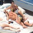 Exclusif - Cristiano Ronaldo en vacances avec sa compagne enceinte Georgina Rodriguez à Formantera, le 8 juillet 2017.