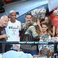 Olivier Muller ( homme d'affaires suisse organisateur de la soirée), Gregory Tony (vainqueur) et guest lors de la 5ème édition de la Fight Night à la Citadelle de Saint-Tropez, le 4 août 2017.La Fight Night est un concept original alliant les plus hautes valeurs des sports de combats internationaux au glamour de Saint-Tropez. Certains des plus grands noms de la boxe thaï et du kick-boxing mondiaux se sont affrontés sur ce ring faisant désormais partie de la légende de la boxe sous toutes ses formes. Cette prestigieuse soirée de gala est devenue au cours du temps LA marque d'un succès sportif et people retentissant. Un événement incontournable dans le village le plus célèbre de la Côte d'Azur. © Rachid Bellak/Bestimage04/08/2017 -