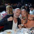 Philippe Corti et Vincent Lagaf lors de la 5ème édition de la Fight Night à la Citadelle de Saint-Tropez, le 4 août 2017.La Fight Night est un concept original alliant les plus hautes valeurs des sports de combats internationaux au glamour de Saint-Tropez. Certains des plus grands noms de la boxe thaï et du kick-boxing mondiaux se sont affrontés sur ce ring faisant désormais partie de la légende de la boxe sous toutes ses formes. Cette prestigieuse soirée de gala est devenue au cours du temps LA marque d'un succès sportif et people retentissant. Un événement incontournable dans le village le plus célèbre de la Côte d'Azur. © Rachid Bellak/Bestimage04/08/2017 -