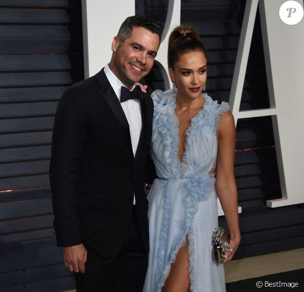 Jessica Alba et son mari Cash Warren - Soirée post-cérémonie des Oscars à Berverly Hills, le 26 février 2017. © Chris Delmas/Bestimage
