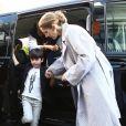 Nelson Angelil - Celine Dion quitte l'hôtel Royal Monceau avec ses enfants et prend un jet privé au Bourget le 10 août 2017.