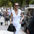 Exclusif - Céline Dion et son danseur Pepe Munoz sont allés déjeuner à l'hôtel Raphael, à Paris, France, le 7 août 2017.