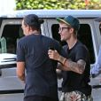 Exclusif - Justin Bieber sort de la Zoe Church Conference au Wiltern à Los Angeles, le 5 août 2017. Los Angeles