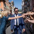 Brigitte Macron (Trogneux) - Le président de la République est reçu par l'hôtel de ville de Nice pour un entretien avant la cérémonie d'hommage aux victimes de l'attentat du 14 juillet 2016 à Nice, le 14 juillet 2017. © Cyril Moreau/Bestimage