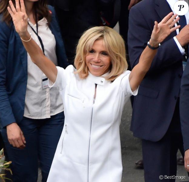 Brigitte Macron (Trogneux) à Paris, le 13 juillet 2014.