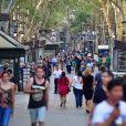 """""""Image de La Rambla, à Barcelone, au lendemain de l'attaque terroriste qui y a été perpétrée le 17 août 2017."""""""