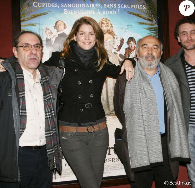 Exclu - Alain Berbérian, Alice Taglioni, Gerard Jugnot et Jean-Paul Rouve à la première de L'Ile aux Trésors, à Paris, le 14 janvier 2007
