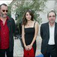 Alain Berbérian, Jean Reno et Caterina Murino, à la première de L'enquête corse, le 12 septembre 2004