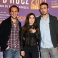 """Paul Lefèvre, Fanny Valette et Antoine Gouy pour le film """"A Love You"""" - 3e journée du 18e Festival international du film de comédie de l'Alpe d'Huez, le 16 janvier 2015."""
