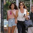 Exclusif - Cindy Crawford et sa fille Kaia Gerber à Malibu, le 13 juillet 2017.
