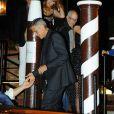 Amal et George Clooney se promènent dans un bateau taxi lors du 74ème Festival International du Film de Venise en Italie le 31 aout 2017