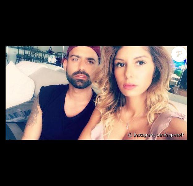 """Sarah Lopez des """"Anges 9"""" et Vincent Queijo s'affichent complices, Instagram, 2017"""