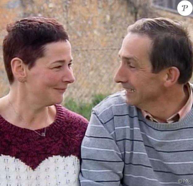 """Nathalie et Patrice - """"L'amour est dans le pré 2017"""" sur M6. Le 4 septembre 2017."""