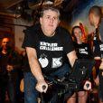 """Exclusif  - Pierre Ménès - Kettler Challenge au profit de l'association """"L'étoile de Martin"""" à l'hôtel Molitor à Paris, le 1er décembre 2014."""