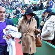 Jelena Djokovic (Ristic) enceinte - Novak Djokovic a perdu face à D.Goffin lors du Monte Carlo Rolex Masters à Roquebrune Cap Martin le 21 avril 2017. © Bruno Bebert / Bestimage