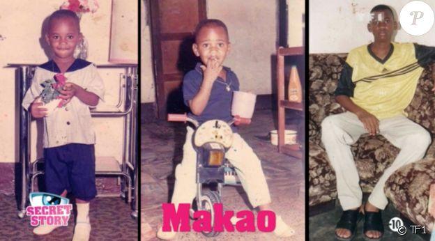 Makao lorsqu'il était enfant et adolescent.