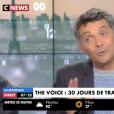 """""""Thierry Moreau dévoile le salaire des coachs de """"The Voice 7"""" sur CNEWS, le 12 septembre 2017."""""""