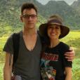 Jonathan Rhys-Meyers et Mara Lane sur une photo publiée sur Instagram le 7 août 2017