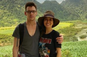 Jonathan Rhys-Meyers et sa femme :