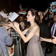 """Angelina Jolieà la première du film """"D'abord, ils ont tué mon père"""" à New York, le 14 septembre 2017"""