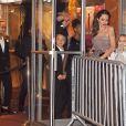 """Maddox Jolie-Pitt, Knox Leon Jolie-Pitt, Zahara Jolie-Pitt, Angelina Jolie, Vivienne Jolie-Pitt - Angelina Jolie a assisté avec ses enfantsà la première de """"D'abord, ils ont tué mon père"""" à New York, le 14 septembre 2017"""