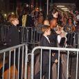 """Shiloh Jolie-Pitt, Knox Leon Jolie-Pitt, Zahara Jolie-Pitt, Angelina Jolie, Vivienne Jolie-Pitt - Angelina Jolie a assisté avec ses enfantsà la première de """"D'abord, ils ont tué mon père"""" à New York, le 14 septembre 2017"""