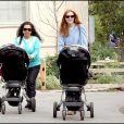 Marcia Cross n'était pas toute seule pour emmener ses fillettes au parc