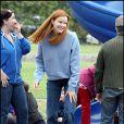 Marcia Cross passe du temps avec ses jumelles au parc. Histoire de décompresser un peu...