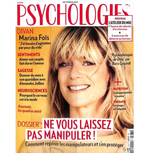Le magazine Psychologies du mois d'octobre 2017