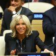 """Brigitte Macron assiste au débat """"Education for All"""" au siège des Nations Unies à New York le 20 septembre 2017."""