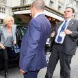 La Première Dame française Brigitte Macron (Trogneux) arrive à l'hôtel The Pierre à New York City, New York, Etats-Unis, le 18 septembre 2017. © Sébastien Valiela/Bestimage