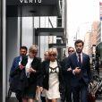 Tristan Bromet, chef de cabinet - Brigitte Macron quitte son hôtel à pied pour se rendre à l'assemblée générale des Nations Unies pour le discours du président de la république à New York le 19 septembre 2017. © Sébastien Valiela / Bestimage