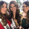 Iris Mittenaere et Miss Pérou 2017. Septembre 2017.