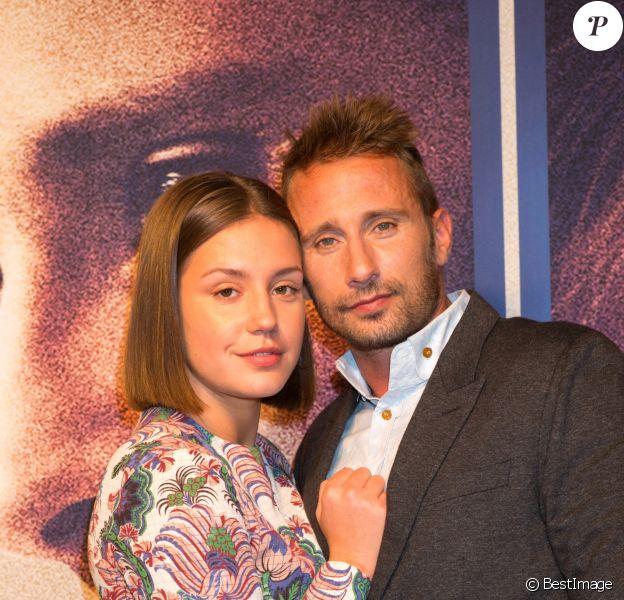 """Adèle Exarchopoulos et Matthias Schoenaerts arrivent à l'avant-première de """"Le Fidèle"""" à Bruxelles le 23 septembre 2017."""