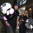 Rob Kardashian et sa compagne Blac Chyna arrivent à l'aéroport LAX de Los Angeles, le 27 Mars 2016.