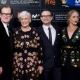 """Björn Runge, Glenn Close, Christian Slater et Annie Starke - Avant-première du film """"The Wife"""" lors de la cérémonie de clôture du 65ème festival du film de San Sebastian, le 30 octobre 2017."""