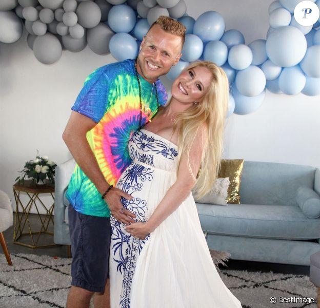 Exclusif - Heidi Montag enceinte et son mari Spencer Pratt - Heidi Montag et son mari Spencer Pratt organisent une fête prénatale avant la naissance de leur premier enfant à Venice en Californie le 9 septembre 2017