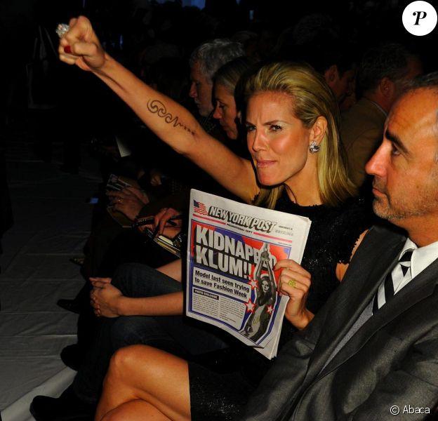 Heidi Klum, sublime au premier rang du défilé Michael Kors