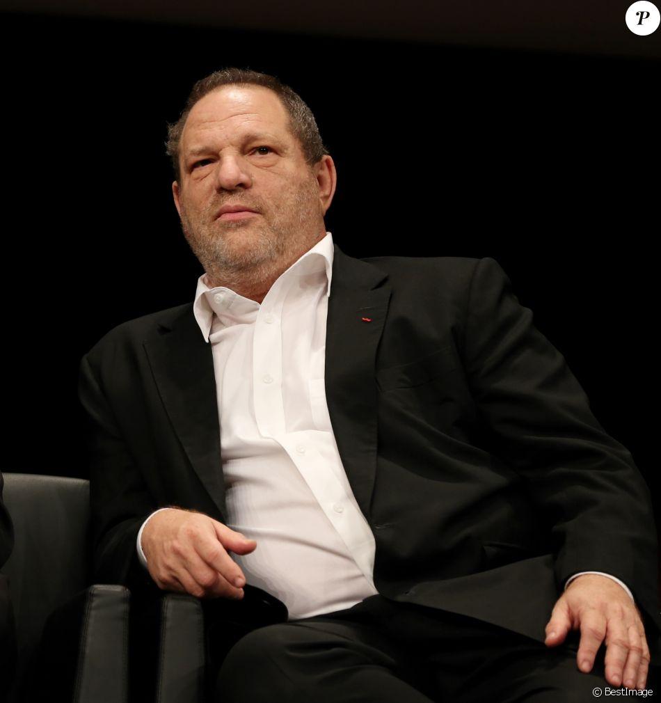 Harvey Weinstein à Lyon, le 18 Octobre 2013. Remise du Prix Lumiere 2013 à Quentin Tarantino à l'amphitheatre du palais des Congrès de Lyon.
