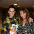 Exclusif - Frederique Bel et Anna Veronique El Baze lors du lancement du livre de Christine Janin et Anna Veronique El Baze 'Dame de Pics et Femme de Coeur', à l'hôtel Mandarin Oriental, à Paris, France, le 09 Octobre 2017.