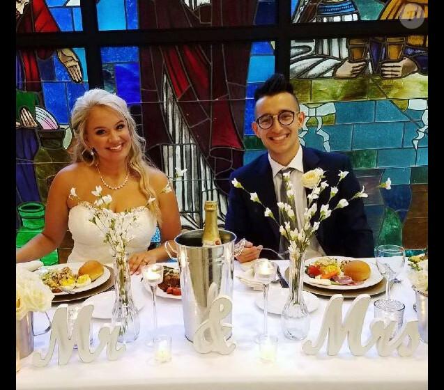 Tiffany Thornton et son mari Josiah Capaci, le 7 octobre 2017