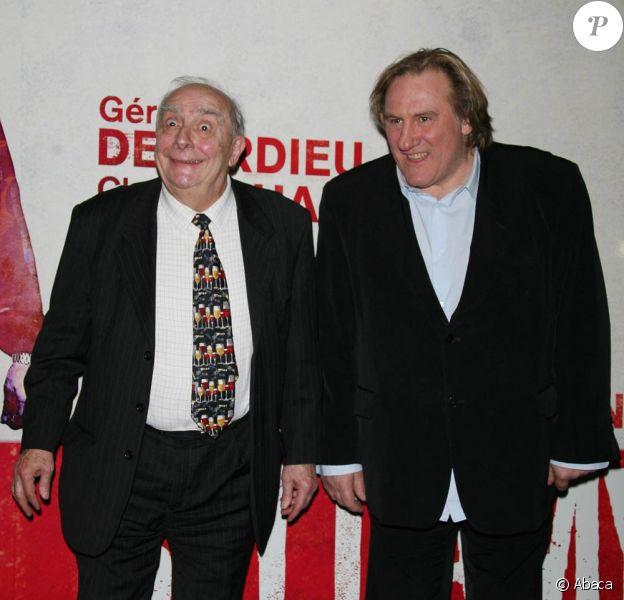 """Claude Chabrol et Gérard Depardieu viennent de travailler pour la première fois ensemble, à l'occasion de """"Bellamy"""""""
