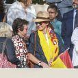 Elene d'Espagne - La famille royale espagnole assiste au défilé militaire de la fête nationale à Madrid le 12 octobre 2017.