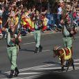 Illustration - La famille royale espagnole assiste au défilé militaire de la fête nationale à Madrid le 12 octobre 2017.