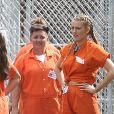 """Exclusif - Prix Spécial - Blake Lively tourne une scène en prison en tenue orange pour le film """"A simple favor"""" à Toronto le 13 septembre 2017."""