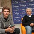 Michel Boujenah et son fils Joseph - Soirée de lancement de PlayLink de PlayStation au Play Link House à Paris, France, le 12 octobre 2017. © Veeren/Bestimage